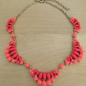 J. Crew Factory Coral Scalloped Statement Necklace